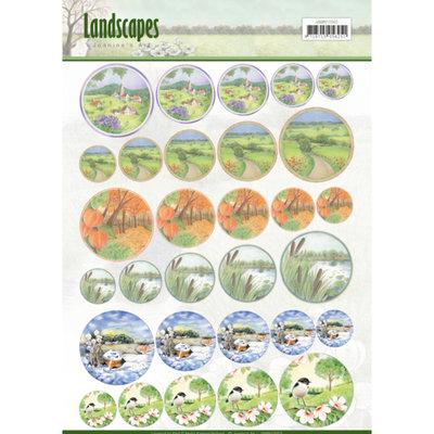 JAMIN10002 – Scenery mini knipvellen - Jeanine's Art - Landscapes - cirkel