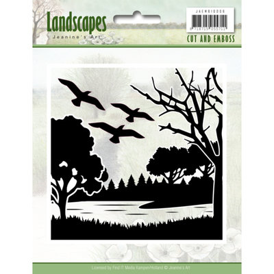 JAEMB10006 – Cut and Embossing folder - Jeanine's Art - Landscapes