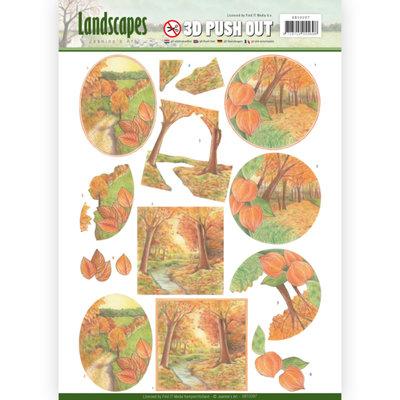 SB10297 – 3D Pushout - Jeanine's Art - Landscapes - Fall Landscapes