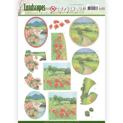SB10296 – 3D Pushout - Jeanine's Art - Landscapes - Summer Landscapes