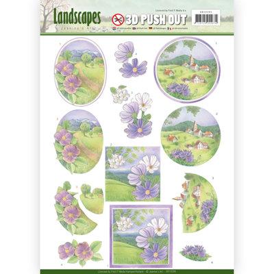 SB10295 – 3D Pushout - Jeanine's Art - Landscapes - Spring Landscapes