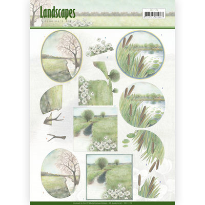 CD11173 – 3D knipvel - Jeanine's Art - Landscapes - Winter Landscapes