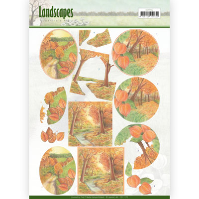 CD11172 – 3D knipvel - Jeanine's Art - Landscapes - Fall Landscapes