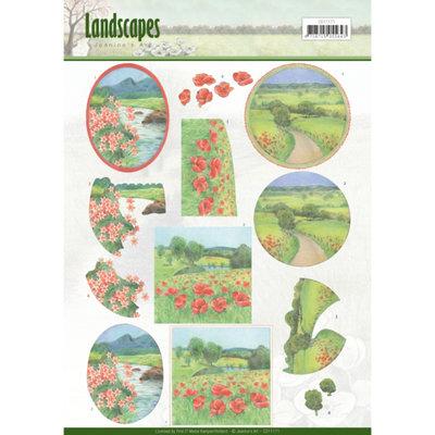 CD11171 – 3D knipvel - Jeanine's Art - Landscapes - Summer Landscapes