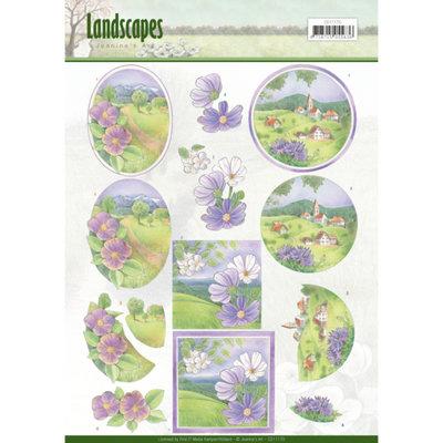 CD11170 – 3D knipvel - Jeanine's Art - Landscapes - Spring Landscapes
