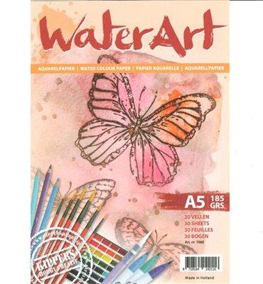 Water Art - Aquarelpapier 30 sheets / A5 / 185 grs