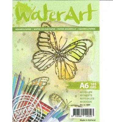 Water Art - Aquarelpapier 40 sheets / A6 / 185 grs