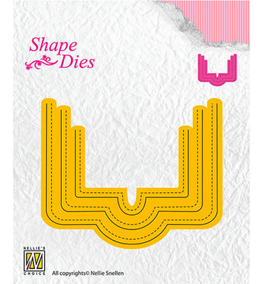 SD161 Nellie Snellen - Shape Dies - Rectangle pocket - 77x64mm