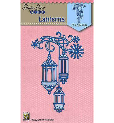 SDB066 Nellie Snellen - Shape Dies - Lanterns - 71x107mm