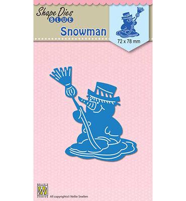 SDB053 Nellie Snellen - Shape Dies Blue - Snowmen - 72x78mm