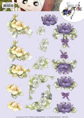 CD11212 - 3D Knipvel - Precious Marieke - Roses