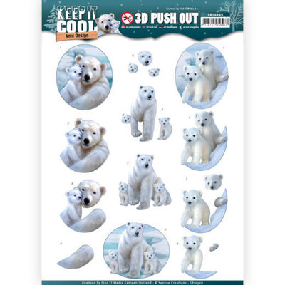 SB10306 3D Pushout - Amy Design - Keep it Cool - Cool Polar Bears