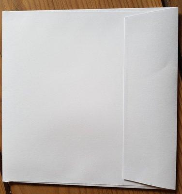 1000 stuks vierkante enveloppen 15,5x15,5 wit 120 grams