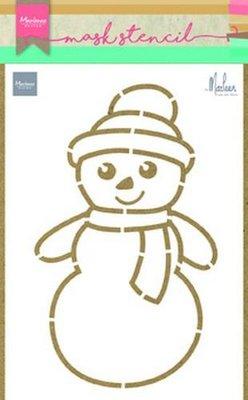 Marianne D Stencils Sneeuwpop van Marleen PS8018 149x210 mm
