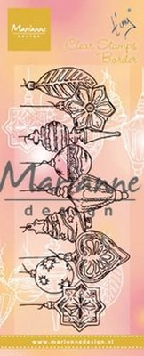 Marianne D Clear Stamps Tiny's border - Kerstballen TC0868 138x39 mm