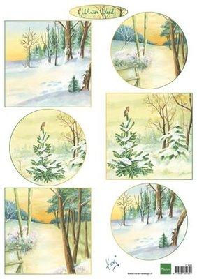 Marianne D Decoupage Winter wood IT606 A4