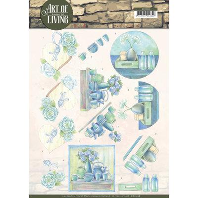 CD11208 3D knipvel - Jeanine's Art - Art of Living - Blue Art