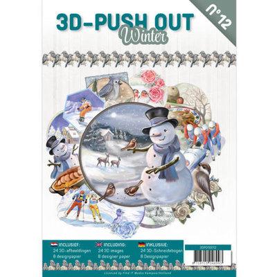 3DPO10012 3D Push Out Book Winter nr.12