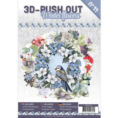3DPO10011 3D Push Out Book Winter Flowers nr. 11