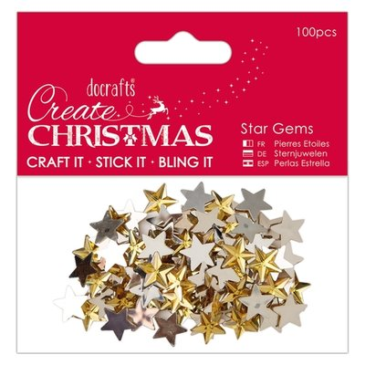 PMA 351909 Papermania – Star Gems (100pcs) - Gold