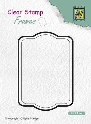 Nellies Choice Clear Stamps Frames rechthoek CSFR002 50x72mm