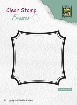 Nellies Choice Clear Stamps Frames vierkant CSFR001 59x59mm