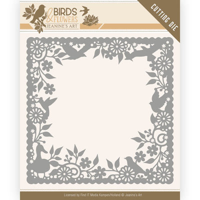 JAD10057 Dies - Jeanine's Art - Birds and Flowers - Birds Frame – 13x13cm