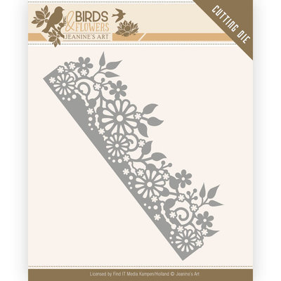 JAD10058 Dies - Jeanine's Art - Birds and Flowers - Daisy Border – 13x4,3cm