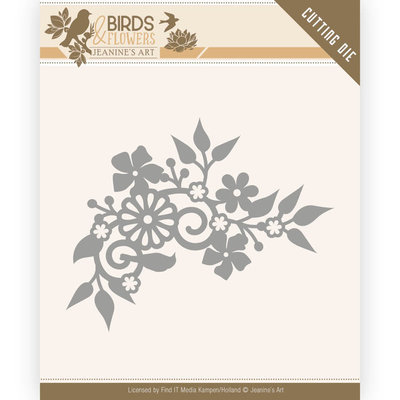JAD10062 Dies - Jeanine's Art - Birds and Flowers - Birds Corner – 5,8x7,2cm