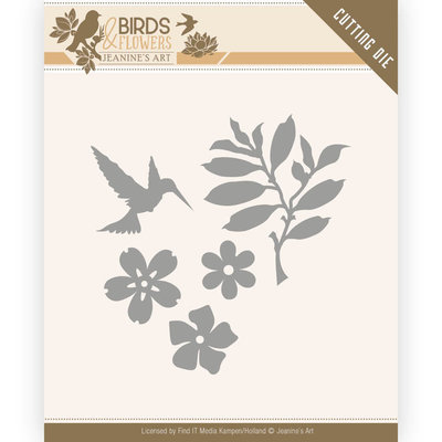 JAD10063 Dies - Jeanine's Art - Birds and Flowers - Birds Foliage -4x4,5cm