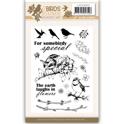 JACS10021 Clearstamp - Jeanine's Art - Birds and Flowers