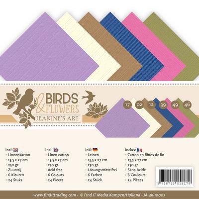 JA-4K-10007 Linnenpakket - 4K- Jeanine's Art - Birds and Flowers