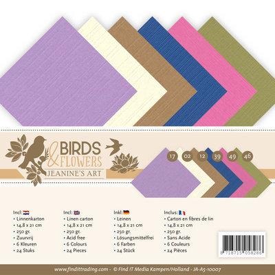 JA-A5-10007 Linnenpakket - A5 - Jeanine's Art - Birds and Flowers