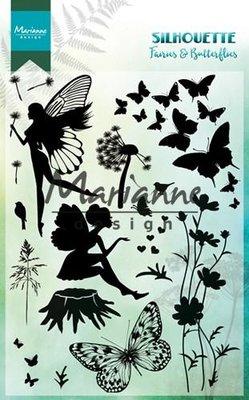 Marianne D Clear Stamps Silhouette Elfen & vlinders CS1016 150mmx115 mm