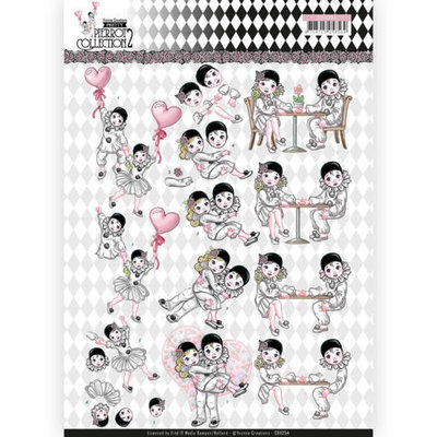 CD11254 3D Knipvel - Yvonne Creations- Pretty Pierrot 2 - Love is in the Air