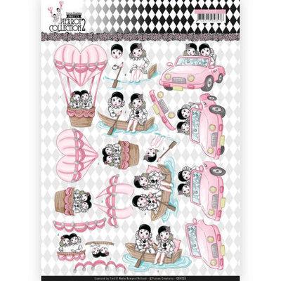 CD11255 3D Knipvel - Yvonne Creations- Pretty Pierrot 2 - Car Trip