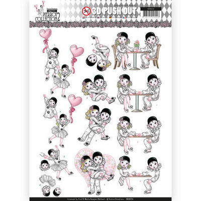 SB10324 3D Pushout - Yvonne Creations- Pretty Pierrot 2 - Love is in the Air