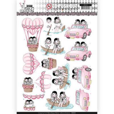 SB10325 3D Pushout - Yvonne Creations- Pretty Pierrot 2 - Car Trip