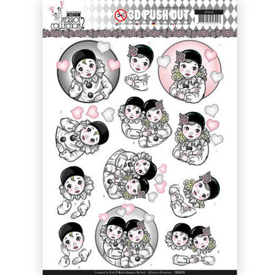SB10326 3D Pushout - Yvonne Creations- Pretty Pierrot 2 - Thinking of You