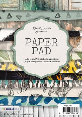 Studio Light Paper Pad A5 36 vel 12 designs nr 105 PPSL105