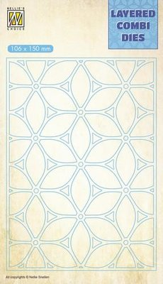 Nellie's Choice Layered Combi Die bloem laag A LCDF001 106x150mm