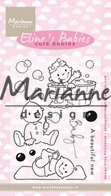 Marianne Design Clear stamp Eline's Cute Babies EC0176 18x10 cm
