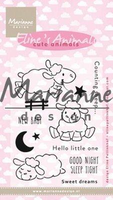 Marianne Design Clear stamp Eline's Cute Animals - Schaap EC0175 18x10 cm