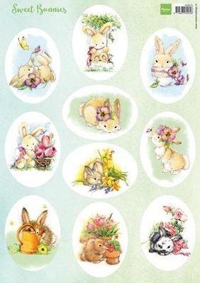 Marianne Design Decoupage Sweet Bunnies VK9575 A4