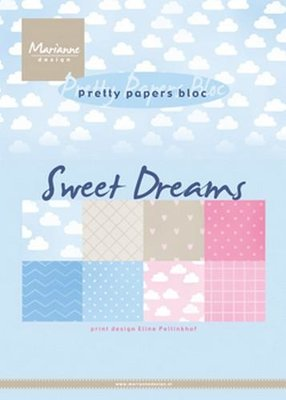 Marianne Design Paperpad Eline's Sweet dreams A5 PB7055