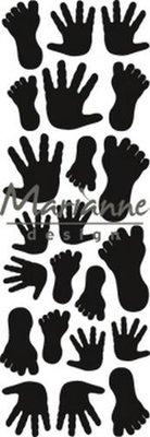 Marianne Design Craftable Punch die handjes & voetjes CR1457 8x16 cm