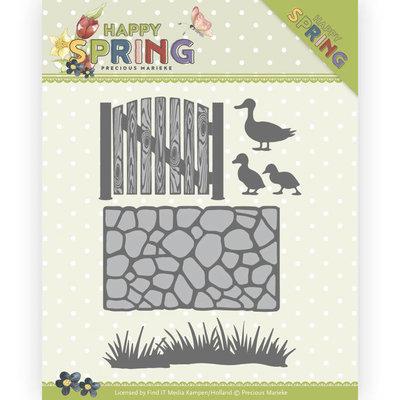 PM10149 Dies - Precious Marieke - Happy Spring - Garden