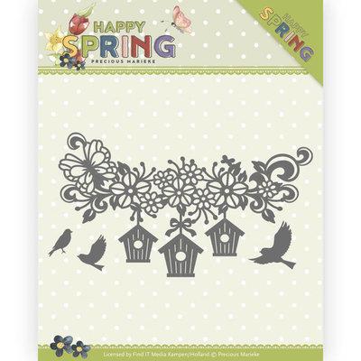 PM10148 Dies - Precious Marieke - Happy Spring - Happy Birdhouses