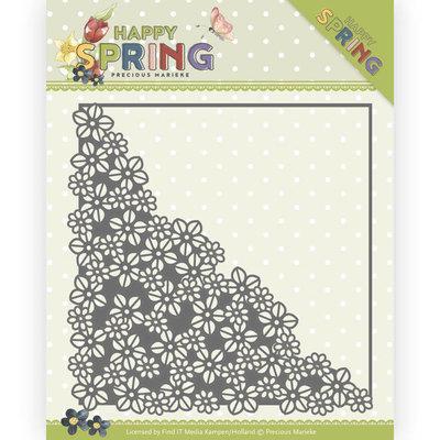 PM10145 Dies - Precious Marieke - Happy Spring - Happy Flower Corner