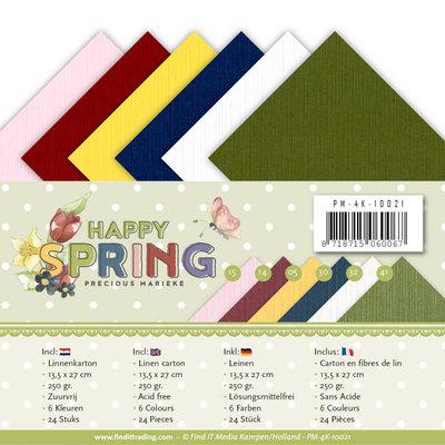 PM-4k-10021 Linnenpakket - 4K - Precious Marieke - Happy Spring